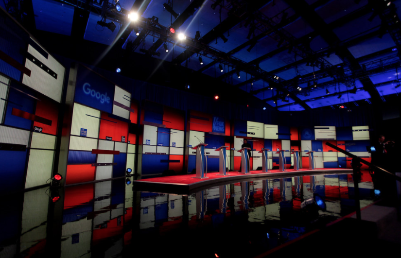 The Republican Primary Debate Stage